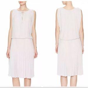 BCBGMAXAZRIA Pleated Lona Dress Off-white Size M